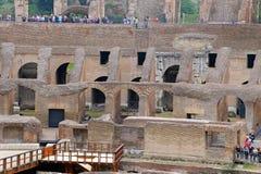 Colosseum, Coliseum of Coloseo, het grootste ooit gebouwde symbool van Flavian Amphitheatre van de oude stad van Rome in Roman Em Royalty-vrije Stock Foto