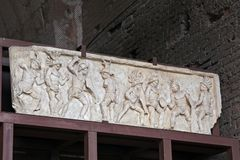 Colosseum, Coliseum or Coloseo, the relief of Lusius Storax. Royalty Free Stock Photo