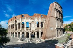 Colosseum or Coliseum, the Flavian Amphitheatre stock images