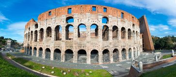 Colosseum or Coliseum, the Flavian Amphitheatre stock image