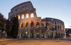 The Colosseum or Coliseum, Flavian Amphitheatre in Rome, Italy royalty free stock image