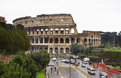 Colosseum  (Coliseum) - Flavian Amphitheatre in Rome. Italy Royalty Free Stock Image