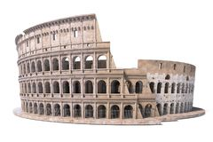 Colosseum, Coliseum isolated on white. Symbol of Rome and Italy,. 3d illustration royalty free illustration