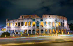 Colosseum (Coliseum) at night, Rome Royalty Free Stock Photography