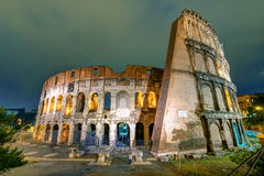 Colosseum (Coliseum) at night in Rome Royalty Free Stock Image