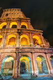 Colosseum (Coliseum) at night in Rome Royalty Free Stock Photos