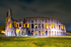 Colosseum (Coliseum) at night in Rome Royalty Free Stock Images