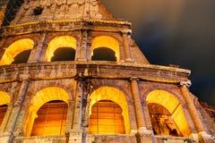 Colosseum (Coliseum) at night in Rome Stock Photo