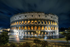 Colosseum (Coliseum) at night, Rome Stock Photo