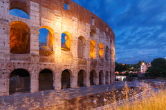 Colosseum or Coliseum at night, Rome, Italy. Stock Photography