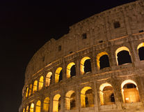 Colosseum (Coliseum) at night in Rome, Italy Royalty Free Stock Photography
