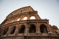 The Colosseum(Coliseum) in Rome. Italy  Low angle view Royalty Free Stock Images