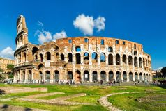 Colosseum or Coliseum in Rome, Italy Royalty Free Stock Images