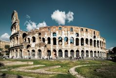 Colosseum or Coliseum in Rome, Italy Royalty Free Stock Photography