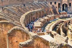 Colosseum (Coliseum) in Rome, Italy. Inside Colosseum on may 10, 2014 in Rome, Italy. TheColosseum is an important monument of antiquity and is one of the main Stock Photography