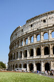 Colosseum or Coliseum. ROME, ITALY JUNE, 28th: The ancient ruins of the Roman Colosseum or Coliseum in Rome, Italy on June 28th, 2015 Royalty Free Stock Photography