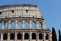 Colosseum or Coliseum. ROME, ITALY JUNE, 28th: The ancient ruins of the Roman Colosseum or Coliseum in Rome, Italy on June 28th, 2015 Stock Photos