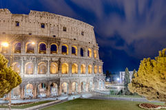 The Colosseum, or the Coliseum in Rome, Italy. Royalty Free Stock Photo