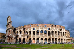Colosseum  Coliseum in Rome Italy. Colosseum Coliseum and the tragic sky in Rome, Italy.ITALY, ROMA, 05, MAY, 2016 Royalty Free Stock Photo