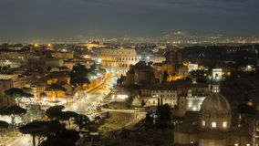 The Colosseum or Coliseum timelapse, Flavian Amphitheatre in Rome, Italy stock video