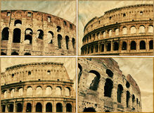 The Colosseum collage royalty free stock image