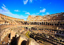 Colosseum or coloseum at Rome. Italy with Sunny Sky Stock Photo