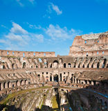 Colosseum or coloseum at Rome Italy. With Sunny Sky Stock Photos