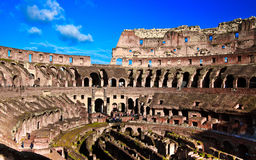 Colosseum or coloseum at Rome Italy. With Sunny Sky Royalty Free Stock Image