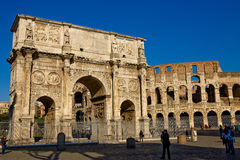 Colosseum and Constantines Arch Royalty Free Stock Image