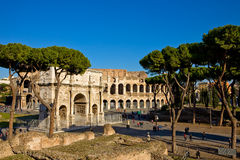 Colosseum and Constantines Arch Stock Images