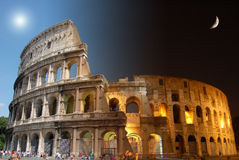 Colosseum, Day And Night Stock Image