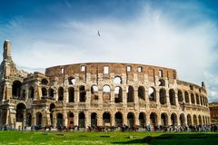 Colosseum at day in rome stock image