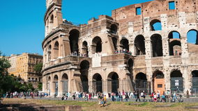 Colosseum during the day stock video footage