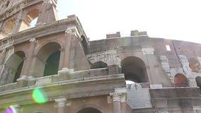 Colosseum - de huvudsakliga turist- dragningarna av Rome, Italien Forntida Rome fördärvar av Roman Civilization arkivfilmer