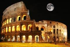 Colosseum de lune photographie stock