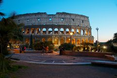 COLOSSEUM DE MENING VAN ROME VAN COLLE OPPIO COLOSSEO Royalty-vrije Stock Foto's