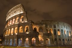 Colosseum de Night Fotografía de archivo