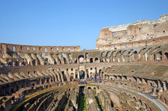 Colosseum de visite Photos stock