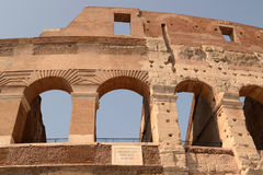 Colosseum - Detail view Royalty Free Stock Photography