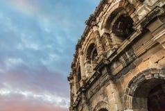 Colosseum di Nimes Immagine Stock Libera da Diritti