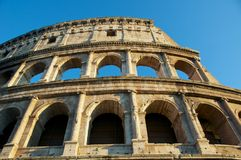 COLOSSEUM DICHT OMHOOGGAAND ROME ITALIË COLOSSEO Royalty-vrije Stock Fotografie