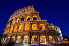 Colosseum in Dusk Royalty Free Stock Photo