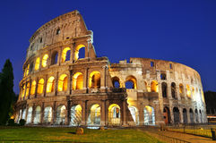Colosseum at dusk Royalty Free Stock Image