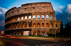 Colosseum at Dusk. Blue hour in rome by the colosseum Royalty Free Stock Photo
