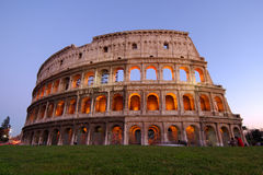 Colosseum at dusk stock image