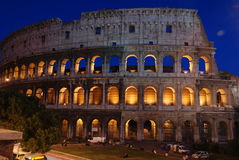 Colosseum at dusk, Rome Royalty Free Stock Photos
