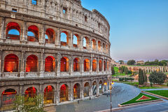 Colosseum at dusk Stock Photos