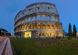 Colosseum in the Dusks. The evening Colosseum. Once upon a time in Rome Royalty Free Stock Photos