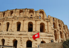 The Colosseum el Djem. Tunis, el Djem - The Colosseum Royalty Free Stock Image