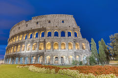 The Colosseum, an elliptical amphitheatre in Rome, Italy Royalty Free Stock Image